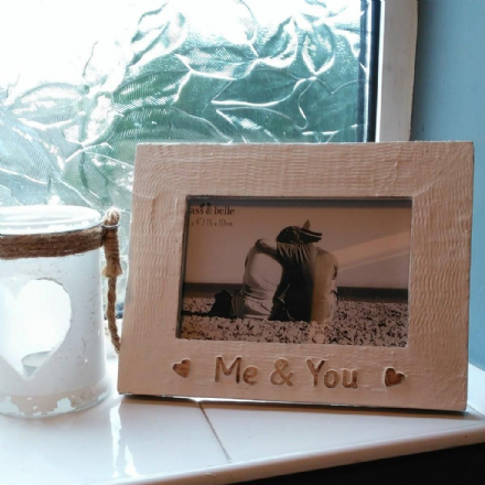 20% off Gorgeous Wooden frame- Me & You